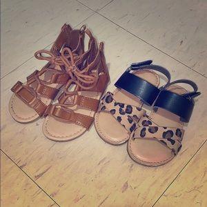 2 pairs girls sandals